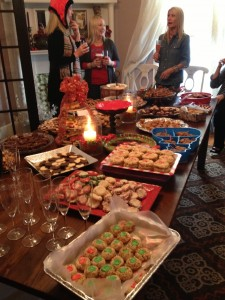 Cookie party, cookies, christmas party, paula deen, pumpkin bars