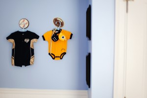 chargers, padres, baby nursery, clothes as decor, baby clothes, sports nursery