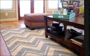 chevron rug, medium blue chevron, la scala chevron,