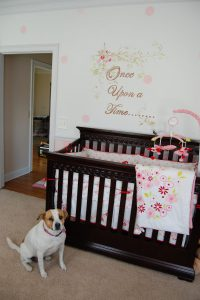 baby girl nursery, Once upon a time, pink nursery