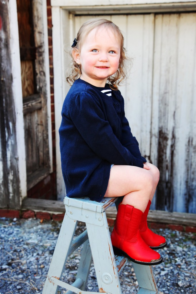 toddler red cowboy boots, toddler photography ideas