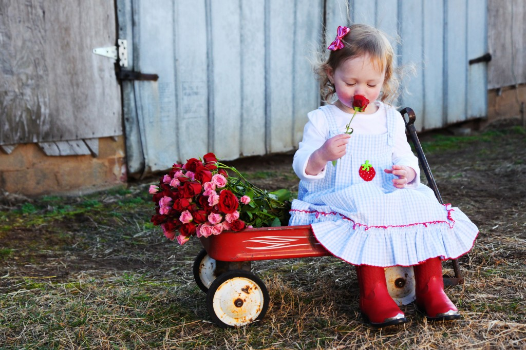 Kid Photo Ideas, roses photo prop, toddler photo ideas