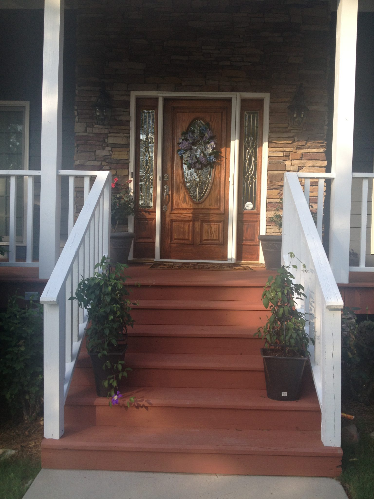 Front Steps After California Rustic Stain Behr DIY