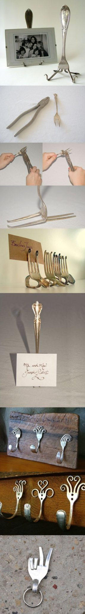 Upcycle decore, recycle decor, repurpose, thrift store finds, decore makeover, flatware, upcycle old silver, vintage utensils