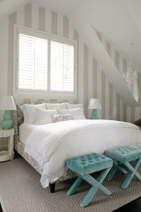 decorate with grey, gray, color, light and bright, pops of color