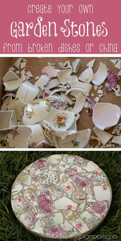 Upcycling balcony garden.Upcycle decore, recycle decor, repurpose, thrift store finds, decore makeover, upcycle broken dishes, vintage china