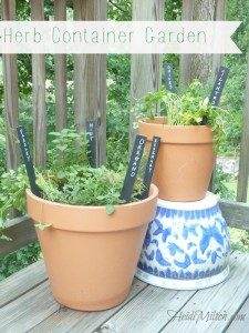 DIY herb garden, container herb garden, how-to, fresh herbs, Pinterest inspiration, Weekend Project