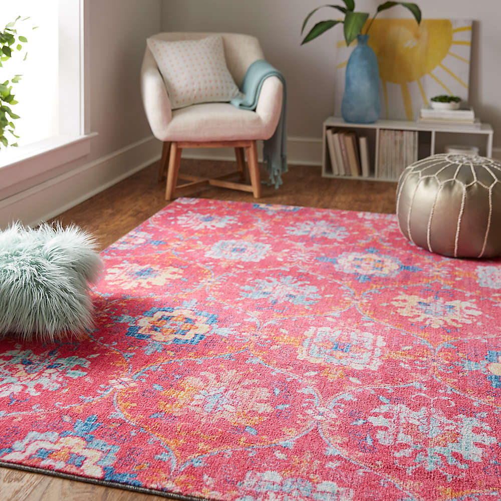 Bright Prismatic Amherst Area Rug in Pink