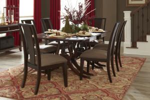 holly berry, table, tablescapes, table setting, dryden, American Rug Craftsmen Dryden Chapel Mesquite Rug