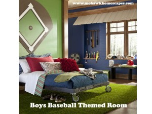 boys room, baseball theme room, big boy baseball room, grass rug, turf rug, baseball room design