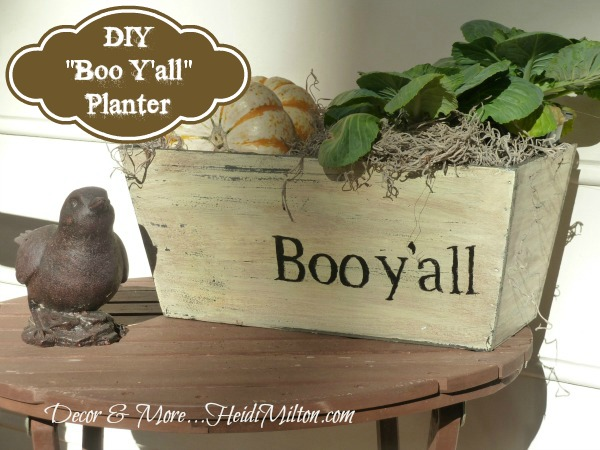 DIY painted planter, seasonal craft project, DIY fall decor, How-to project