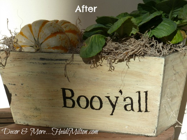 typography planter after, DIY painted planter, seasonal craft project, DIY fall decor, How-to project