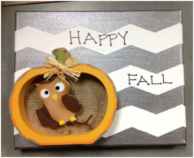 FrogTape, DIY Wall Art, Fall art, how-to, tutorial, chevron, owl art