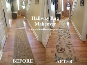 pet friendly rug, hallway rug, rug makeover, sol star runner, american rug craftsmen