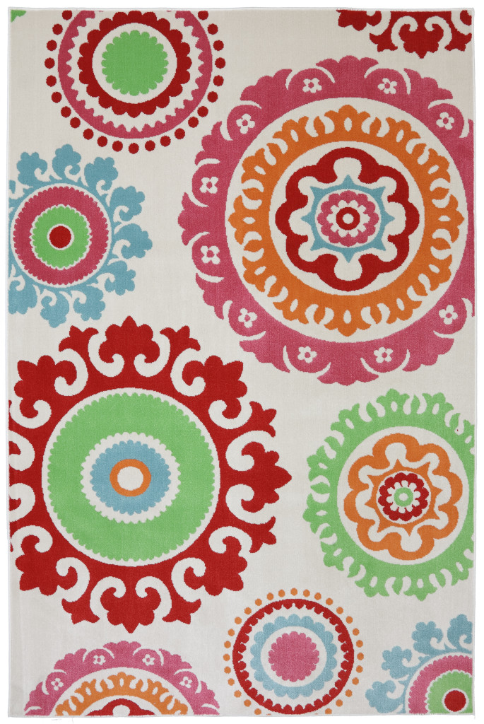 panoramic collection, indoor/outdoor rug, classroom rug, medallion rug, durable rug