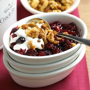 Crockpot - Berry Crumble - slow cooker recipe - Mohawk Homescapes