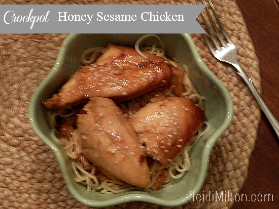 Crockpot Honey Sesame Chicken - slow cooker recipe - Mohawk Homescapes