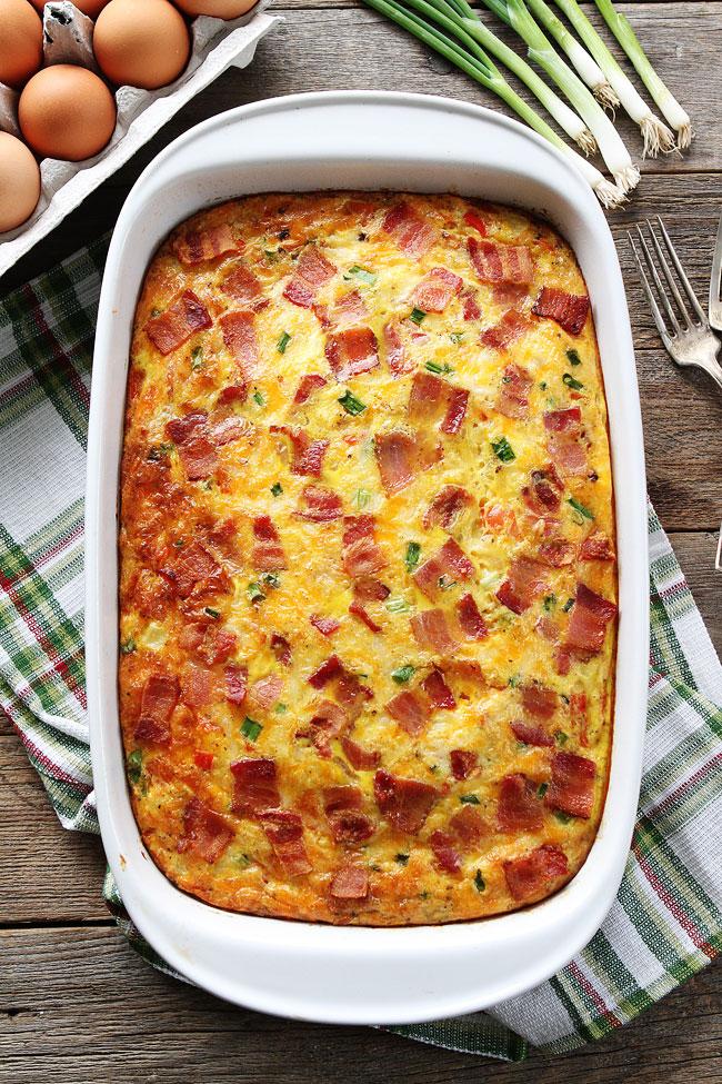 Easter Brunch Recipe Ideas- Mohawk Homescapes- Bacon, Potato and Egg Casserole