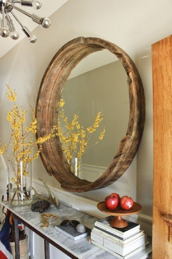 Modern - Mirror - Wine - Barrel - Home - Decor - DailyWt.com - Mohawk Homescapes