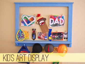 Kids - Art - Display - Frames - Wall - Home - Decor - Mohawk Homescapes - TheCreativePaige.com