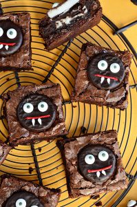Vampire brownies for Halloween