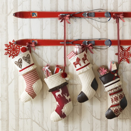 Home Bunch - Mohawk Homescapes - Mantleless - Stockings - Holiday Decor
