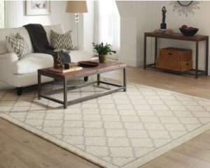 Border Lattice Linen Area Rug - easy ways to freshen up your home - Mohawk Homescapes