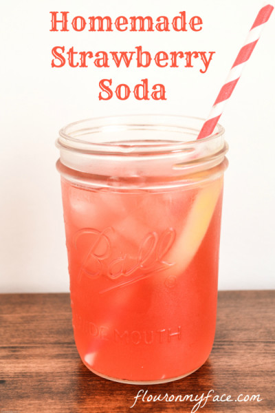 Homemade Soda - Strawberry_Soda - Refreshing Drink Recipes - Flouronmyface.com - Mohawk Homescapes