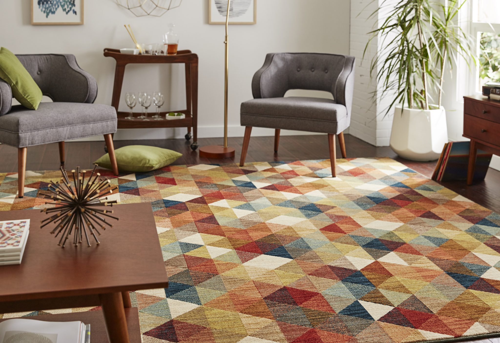 Rug Pictured: Mohawk Home Diamonte Multi
