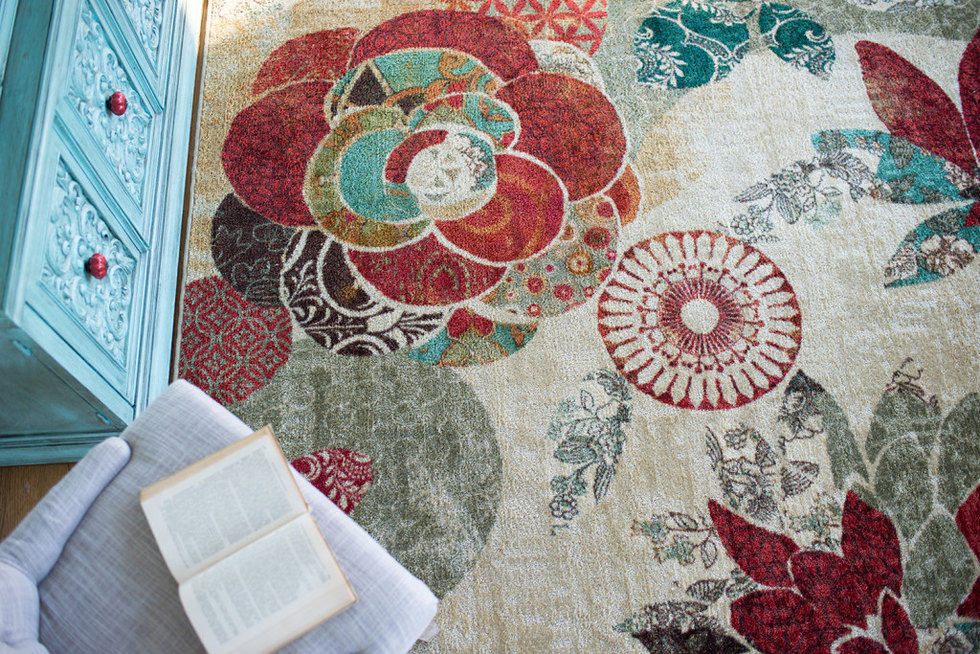 Geo Floral Pattern Area Rug from Mohawk Home