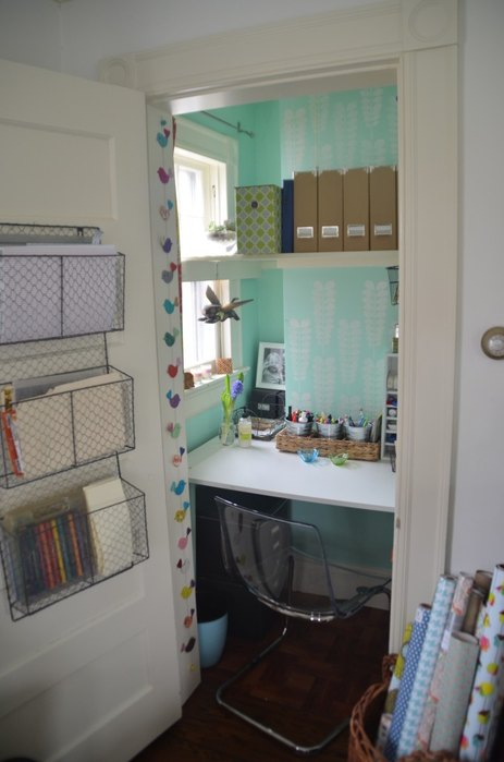 Ciburbanity closet turned office - double duty rooms - mohawkhomescapes.com