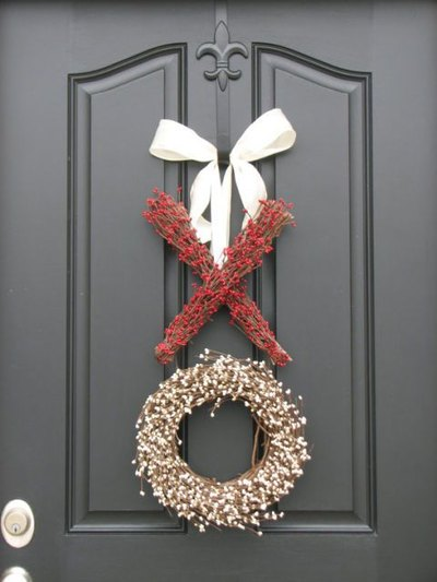 Winter Wreaths - DIY winter wreath ideas - crafts - Mohawk Home - elledecor