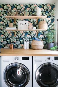 Bohemian laundry room of Sophie Carpenter