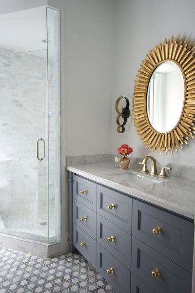 Bathroom Decor Trends   2016   Gold Fixtures   Styleathome   Mohawk Home