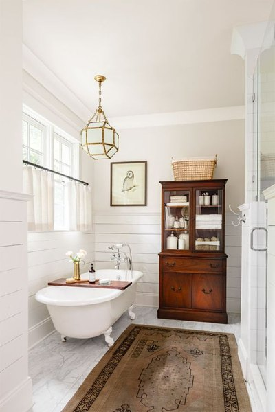 Mohawk Home - statement lighting - bathroom - Heidi Milton - countryliving.com