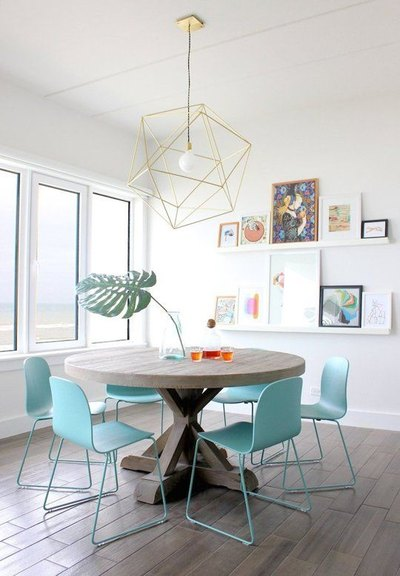 Mohawk Home - statement lighting - dining room - Heidi Milton - apartmenttherapy