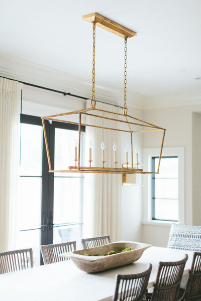 Mohawk Home - statement lighting - dining room - Heidi Milton - katemarkerinteriors.com