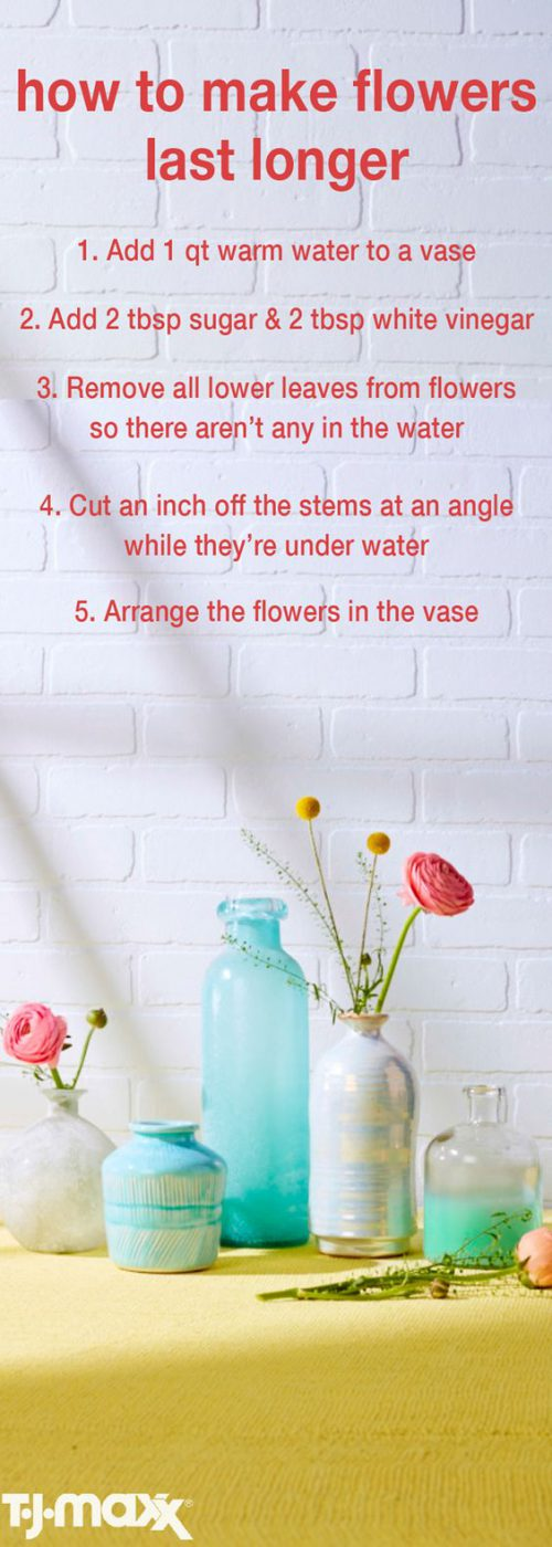 Mohawk florals - tips to keep flowers fresh