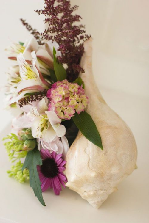 Mohawk florals - beach floral display