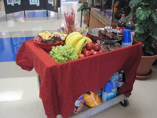 teacher appreciation snack cart
