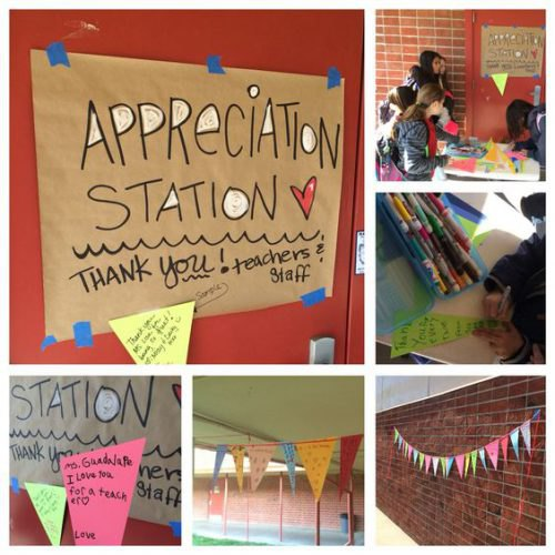 Appreciation Station for teachers
