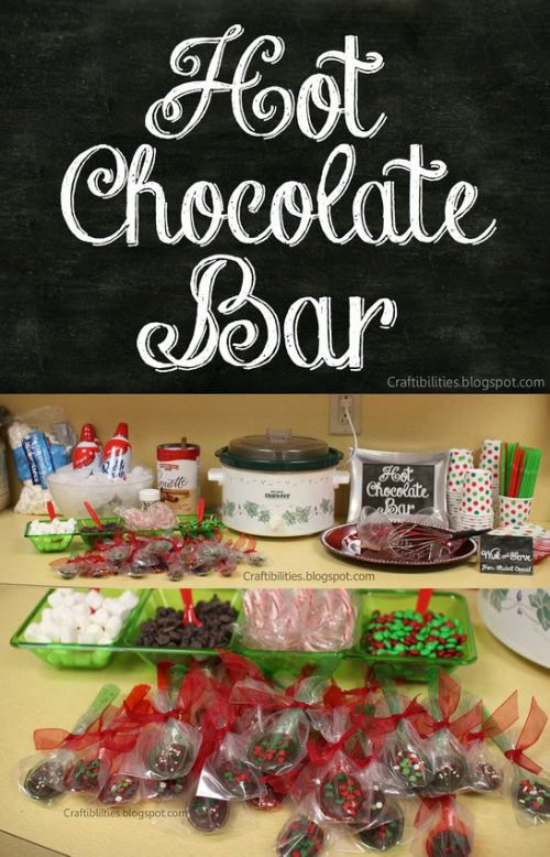 Hot Chocolate bar for teacher appreciation