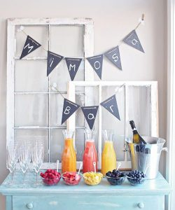 Late Summer Mimosa Bar ideas