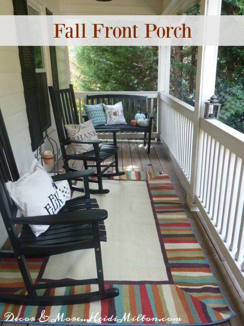 Front Porch Refreshed for Fall - Fall Mohawk Rug - Indoor Outdoor Rug - Mohawk Home Rug