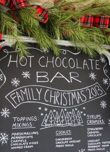 Mohawk Home, for the home, lifestyle blog, hot chocolate bar, holiday ideas, chalkboard art, hand lettering
