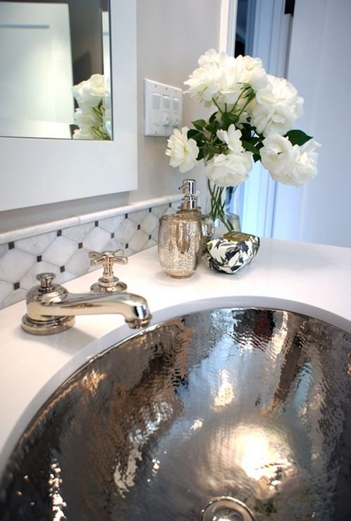 Glam up a tired bathroom - Heidi Milton - ideas to add glam - change hardware & fixtures - Decorpad