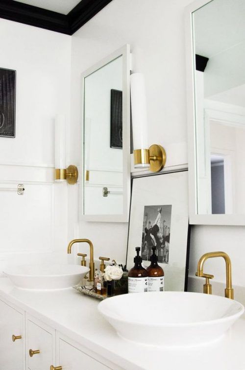 Glam up a tired bathroom - Heidi Milton - ideas to add glam - change hardware & fixtures - The Everygirl