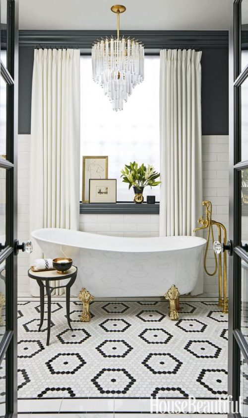 Glam up a tired bathroom - Heidi Milton - ideas to add glam - House Beautiful
