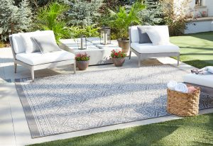 Oasis Nauset Silver Outdoor Rug