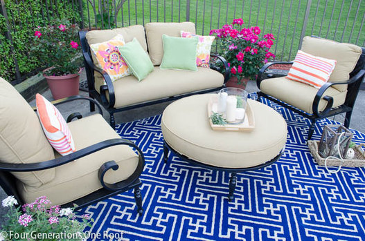 Bold ideas for the patio